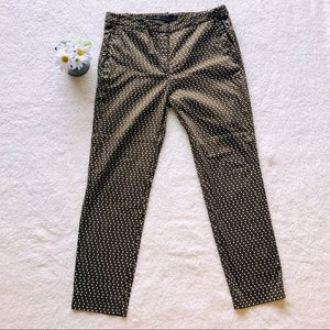 ZARA green & white trouser pants SIZE 8